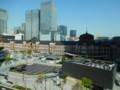 丸ビルから東京駅を望む