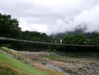 飛騨・白川郷 朝靄が立つ風景