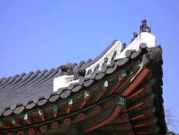 韓国・ソウルにて 宮殿の見張り役