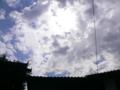 妻籠宿の広い空