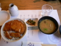 辰野駅で昼食を ソースカツ丼