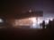 霧に包まれた函館山頂