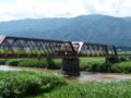 最上川を横切る長井線