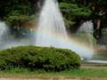 噴水にかかる虹