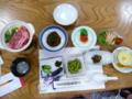 山城屋の夕食・郷土料理コース1