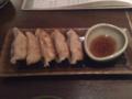 夕食 豆腐入り餃子