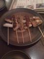 夕食 串焼
