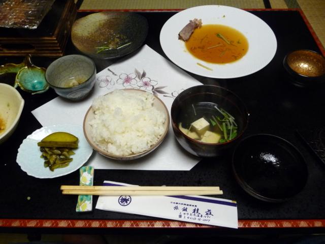 桂荘の夕食・懐石3
