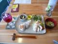 昼食・健康食+紫蘇ジュース