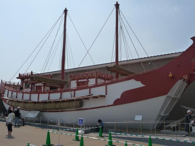 復元した遣唐使船2