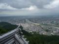 岐阜城の天守閣から風景1