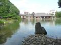 養浩館庭園・池に浮かぶ建物