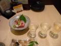 夕食・日本酒飲み比べ