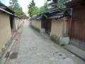 金沢・武家屋敷の通り