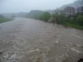 洪水寸前?の広瀬川