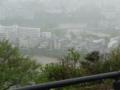 青葉城跡から眺めて・雨で見えない