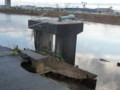 壊れたままの水門