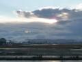 仙台空港の夕日