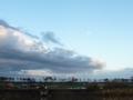 仙台空港の夕月
