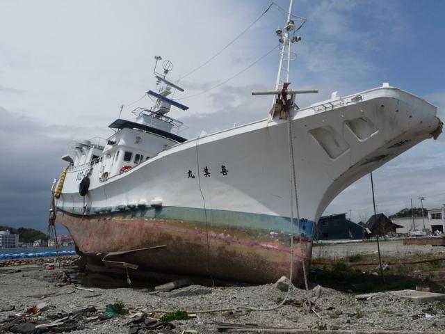 乗り上げたままの船2
