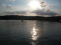 松島湾と夕日