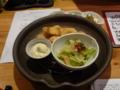 夕食 フグフライタルタルソース