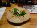夕食 くじらの皮の刺身