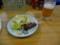 夕食 牛レバー