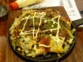 夕食 広島風お好み焼き