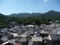宮尾山城跡から見た厳島の街(北西)