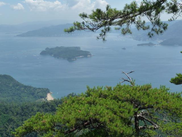 弥山から見た瀬戸内海(北東)