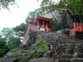 神倉神社と大岩