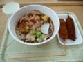 2018-07-15 中京競馬場 一八のキシコロ(ひやしきしめん)と串カツ(味噌