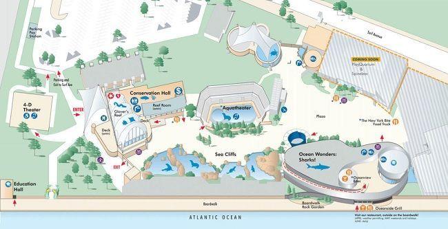 NY水族館マップ