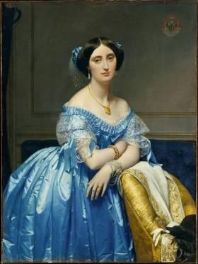 「ド・ブロイ公爵夫人の肖像」ドミニク・アングル