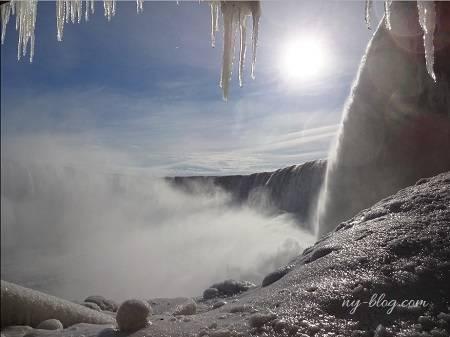 凍ったナイアガラの滝