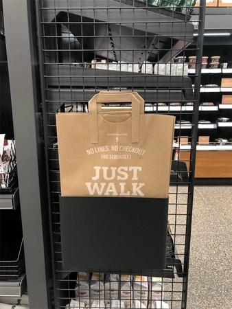Amazon Go紙袋