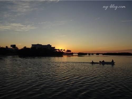 キーウエストマリオットビーチサイドホテルからの夕日