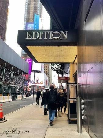 ザ・タイムズスクエア・エディションホテルの入口