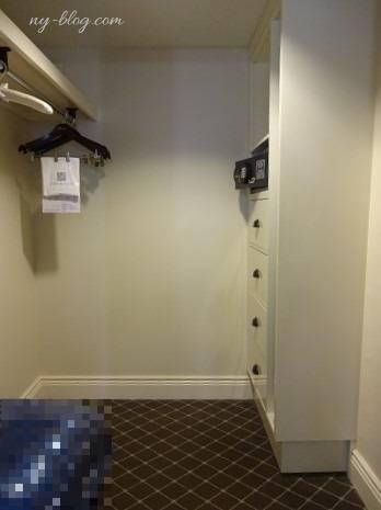 フェアモント・サザンプトンホテルのウォークインクローゼット
