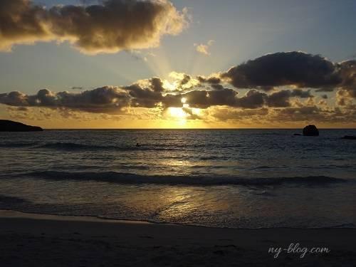 バミューダ島ホースシューベイからの朝日