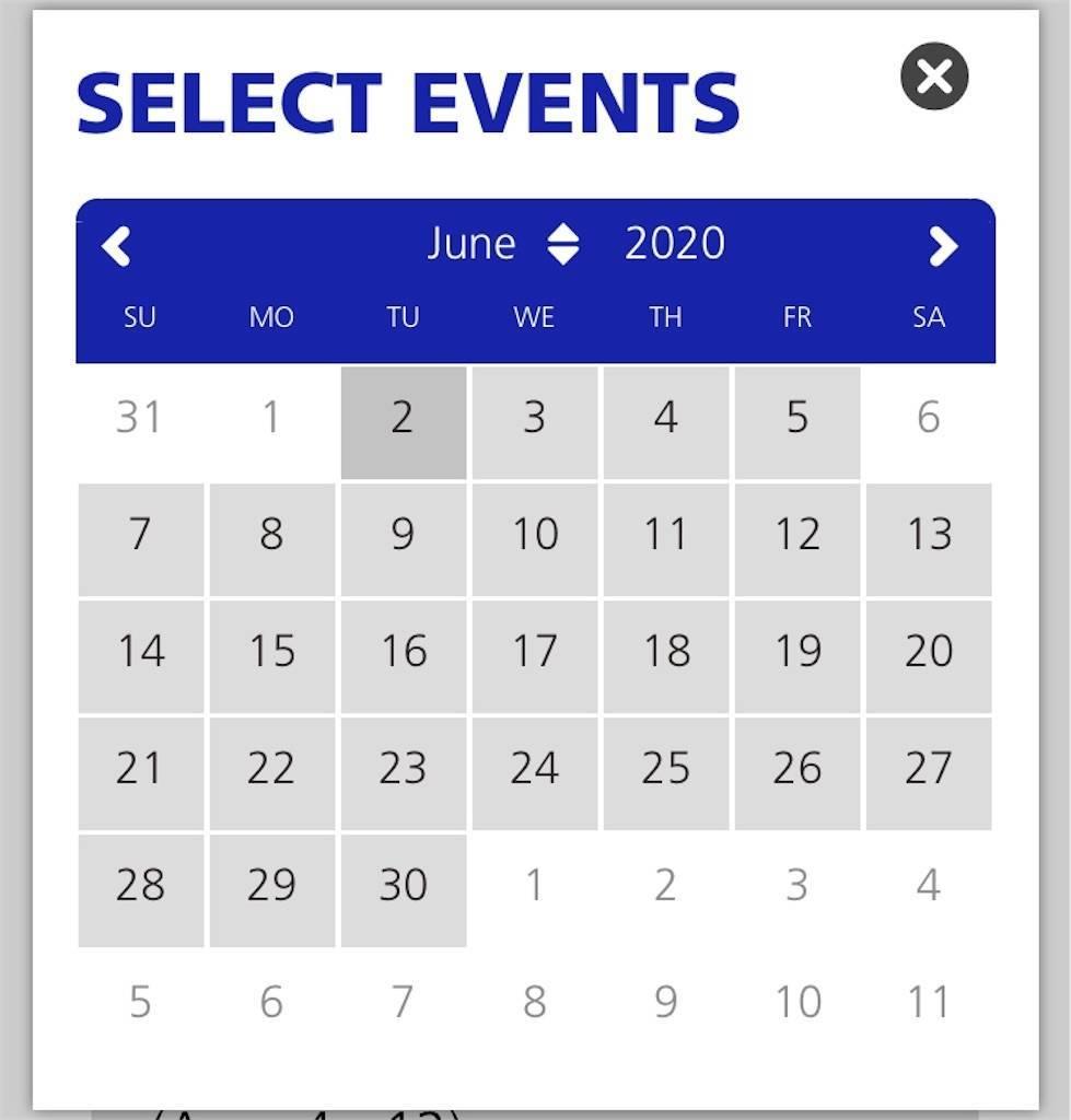 自由の女神チケット予約カレンダー