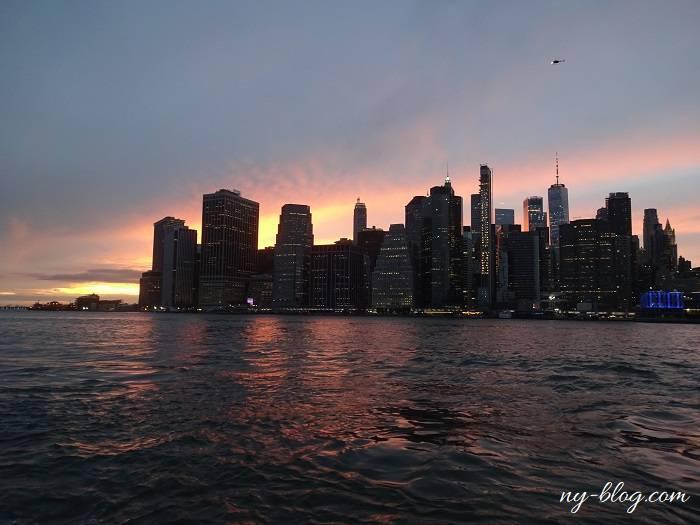 ブルックリン・ダンボからの夕日