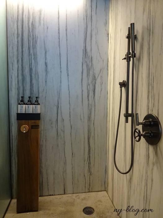 ワンホテル ブルックリン ブリッジのシャワー