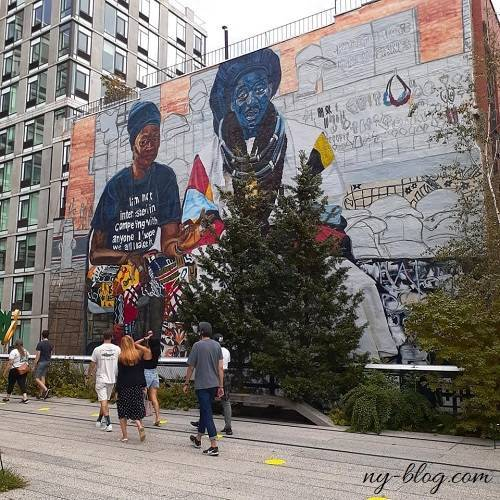 ハイラインの壁画