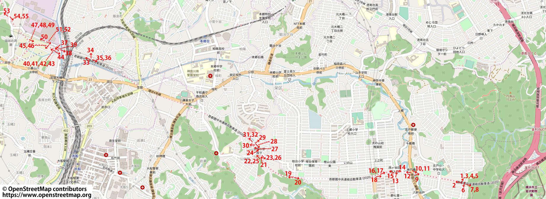 横浜環状南線 2018年12月23日時点 撮影場所