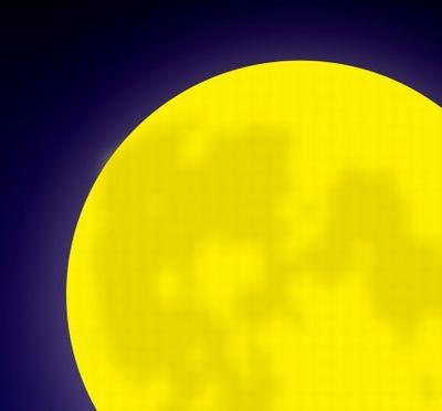 満月の夜中