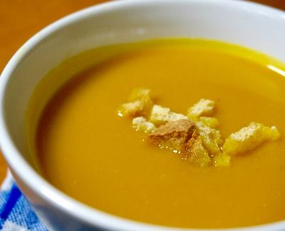 カボチャとニンジンのクリームスープ