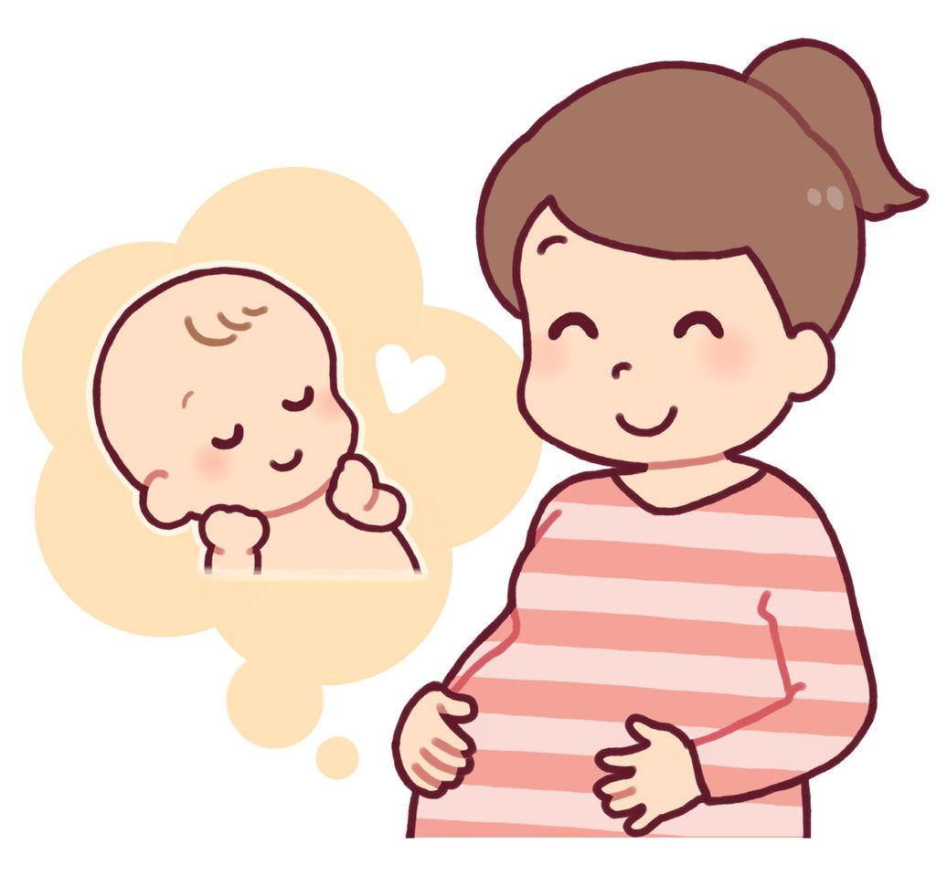 元気な赤ちゃんを産むことを夢見る妊婦さん