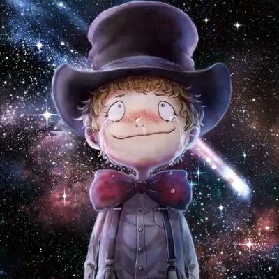 空の星を見上げる
